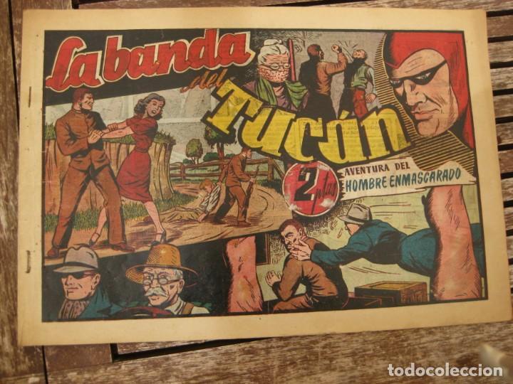 Tebeos: gran lote 67 el hombre enmascarado hispano americana de ediciones originales años 40 - Foto 16 - 164143534