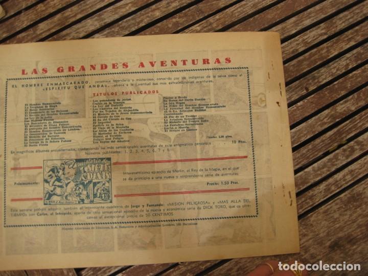 Tebeos: gran lote 67 el hombre enmascarado hispano americana de ediciones originales años 40 - Foto 17 - 164143534