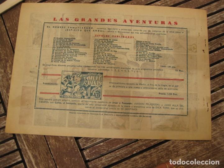 Tebeos: gran lote 67 el hombre enmascarado hispano americana de ediciones originales años 40 - Foto 18 - 164143534