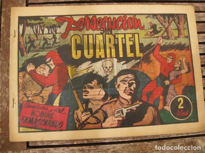 Tebeos: gran lote 67 el hombre enmascarado hispano americana de ediciones originales años 40 - Foto 19 - 164143534