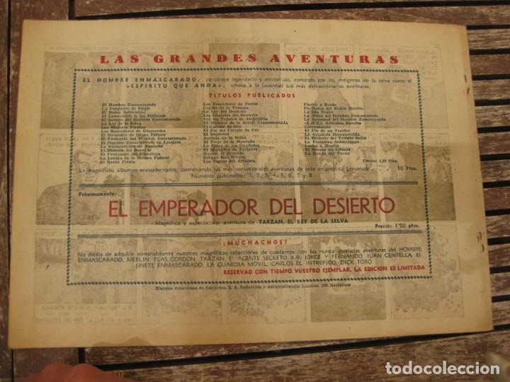 Tebeos: gran lote 67 el hombre enmascarado hispano americana de ediciones originales años 40 - Foto 20 - 164143534