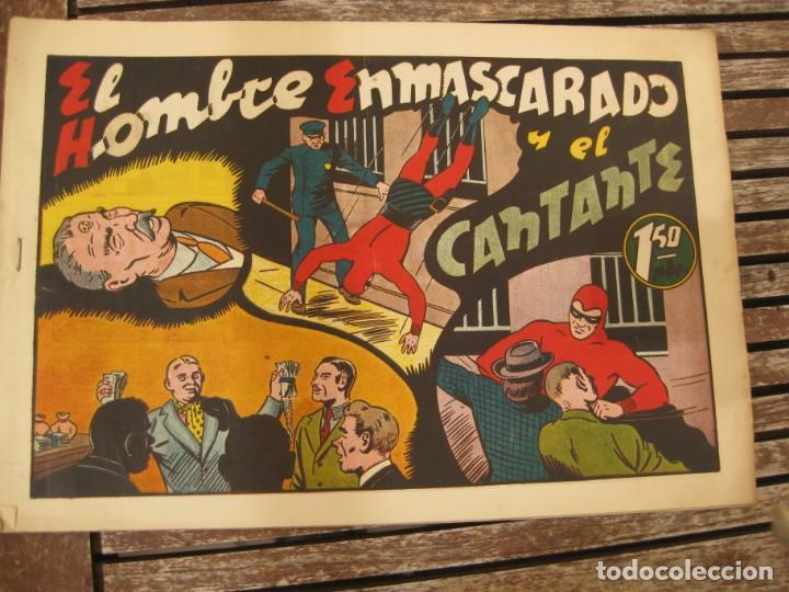Tebeos: gran lote 67 el hombre enmascarado hispano americana de ediciones originales años 40 - Foto 21 - 164143534