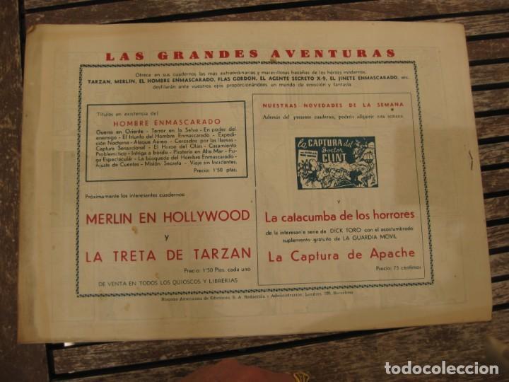 Tebeos: gran lote 67 el hombre enmascarado hispano americana de ediciones originales años 40 - Foto 22 - 164143534
