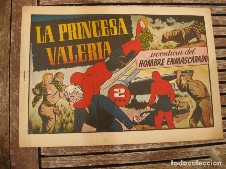 Tebeos: gran lote 67 el hombre enmascarado hispano americana de ediciones originales años 40 - Foto 23 - 164143534