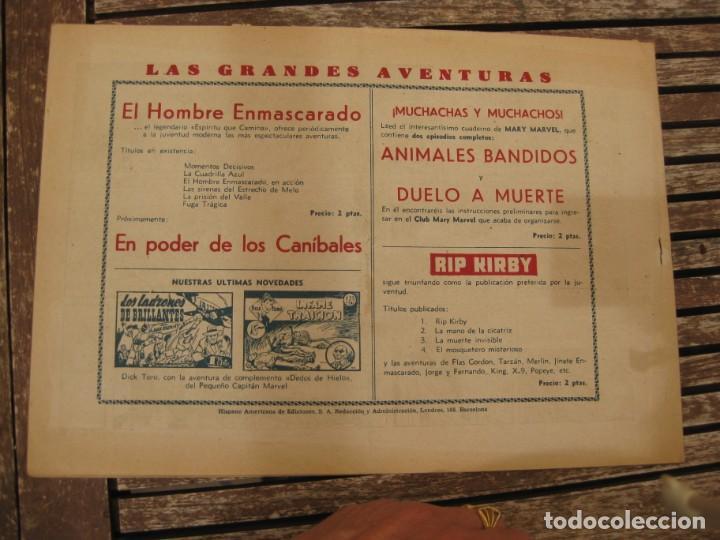 Tebeos: gran lote 67 el hombre enmascarado hispano americana de ediciones originales años 40 - Foto 24 - 164143534