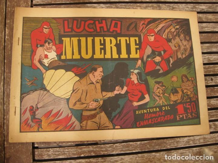 Tebeos: gran lote 67 el hombre enmascarado hispano americana de ediciones originales años 40 - Foto 25 - 164143534