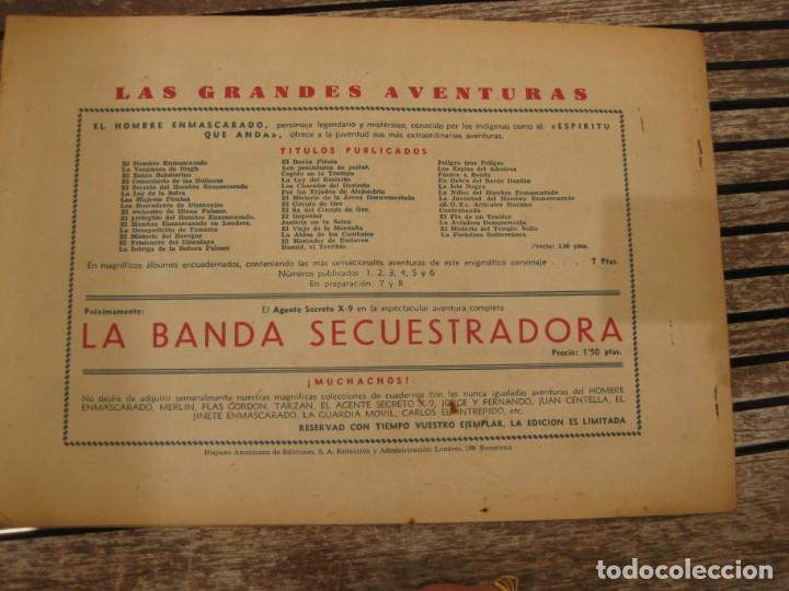 Tebeos: gran lote 67 el hombre enmascarado hispano americana de ediciones originales años 40 - Foto 26 - 164143534