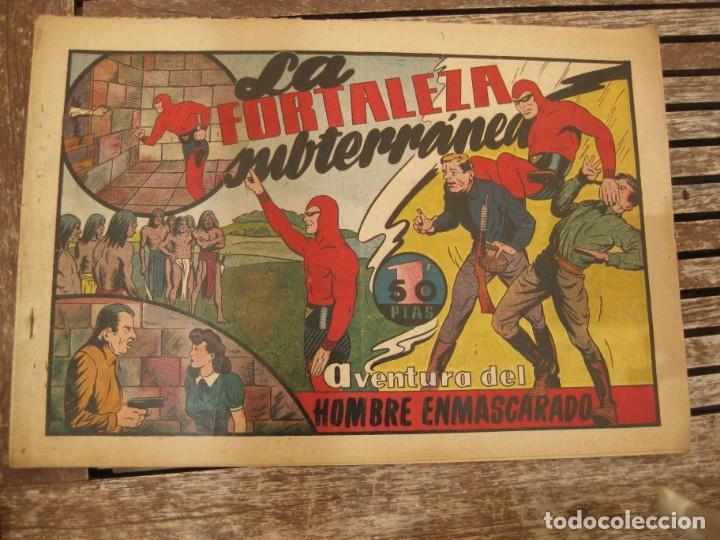 Tebeos: gran lote 67 el hombre enmascarado hispano americana de ediciones originales años 40 - Foto 27 - 164143534