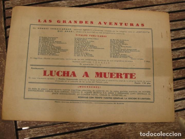Tebeos: gran lote 67 el hombre enmascarado hispano americana de ediciones originales años 40 - Foto 28 - 164143534