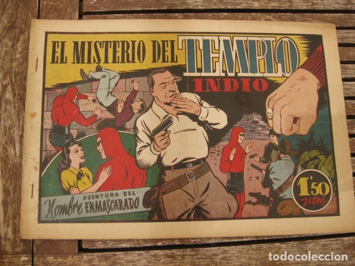 Tebeos: gran lote 67 el hombre enmascarado hispano americana de ediciones originales años 40 - Foto 29 - 164143534