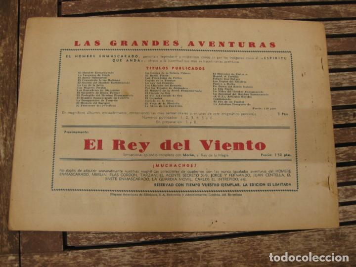 Tebeos: gran lote 67 el hombre enmascarado hispano americana de ediciones originales años 40 - Foto 30 - 164143534