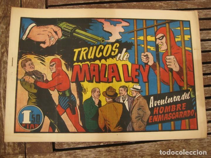 Tebeos: gran lote 67 el hombre enmascarado hispano americana de ediciones originales años 40 - Foto 31 - 164143534