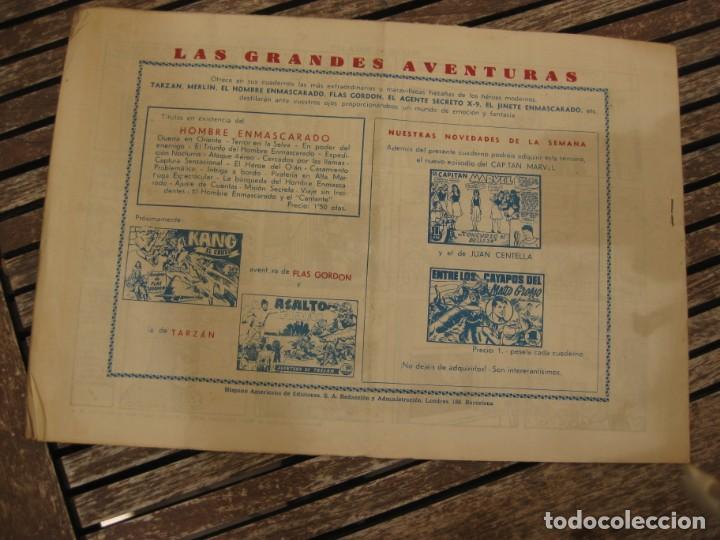 Tebeos: gran lote 67 el hombre enmascarado hispano americana de ediciones originales años 40 - Foto 32 - 164143534