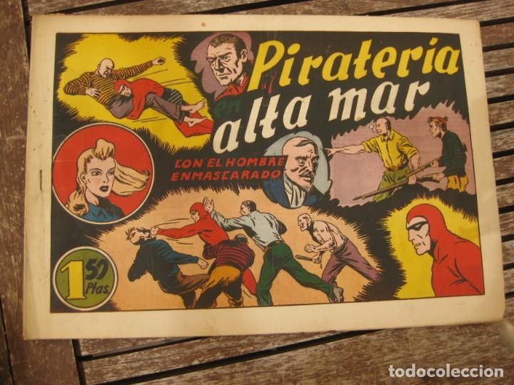 Tebeos: gran lote 67 el hombre enmascarado hispano americana de ediciones originales años 40 - Foto 33 - 164143534