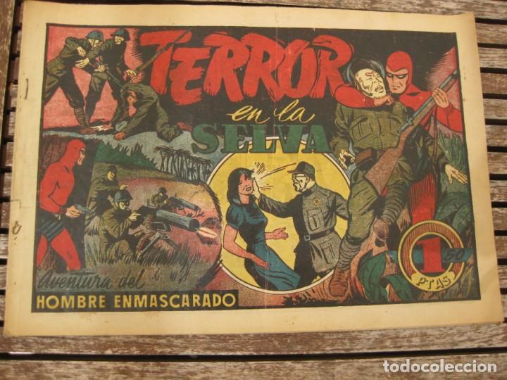 Tebeos: gran lote 67 el hombre enmascarado hispano americana de ediciones originales años 40 - Foto 35 - 164143534