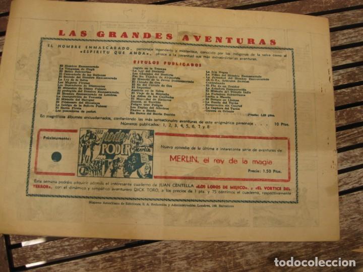 Tebeos: gran lote 67 el hombre enmascarado hispano americana de ediciones originales años 40 - Foto 36 - 164143534