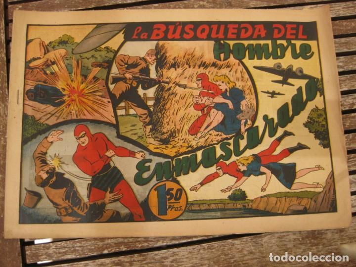 Tebeos: gran lote 67 el hombre enmascarado hispano americana de ediciones originales años 40 - Foto 37 - 164143534