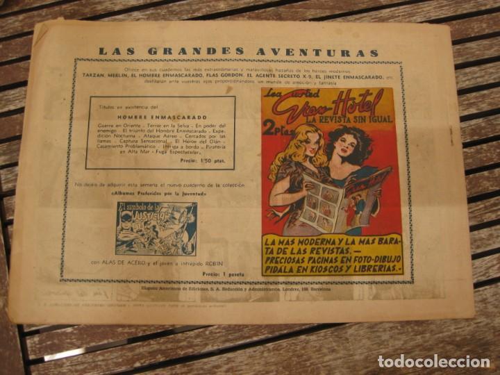 Tebeos: gran lote 67 el hombre enmascarado hispano americana de ediciones originales años 40 - Foto 38 - 164143534