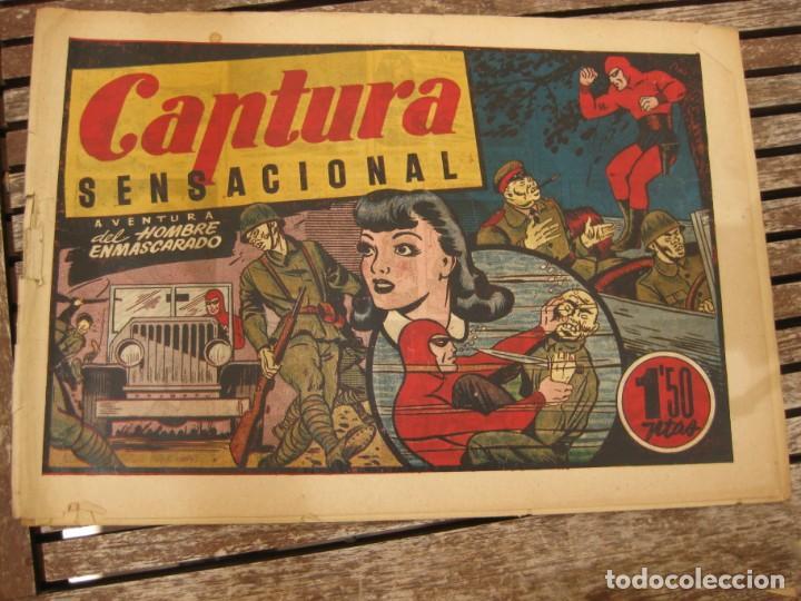 Tebeos: gran lote 67 el hombre enmascarado hispano americana de ediciones originales años 40 - Foto 39 - 164143534