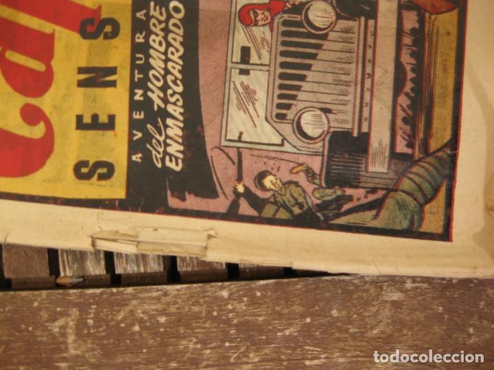 Tebeos: gran lote 67 el hombre enmascarado hispano americana de ediciones originales años 40 - Foto 40 - 164143534