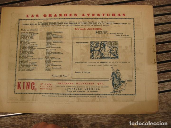 Tebeos: gran lote 67 el hombre enmascarado hispano americana de ediciones originales años 40 - Foto 41 - 164143534