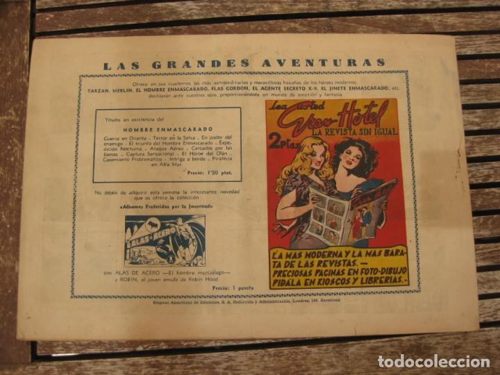 Tebeos: gran lote 67 el hombre enmascarado hispano americana de ediciones originales años 40 - Foto 43 - 164143534