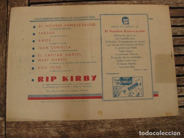 Tebeos: gran lote 67 el hombre enmascarado hispano americana de ediciones originales años 40 - Foto 45 - 164143534