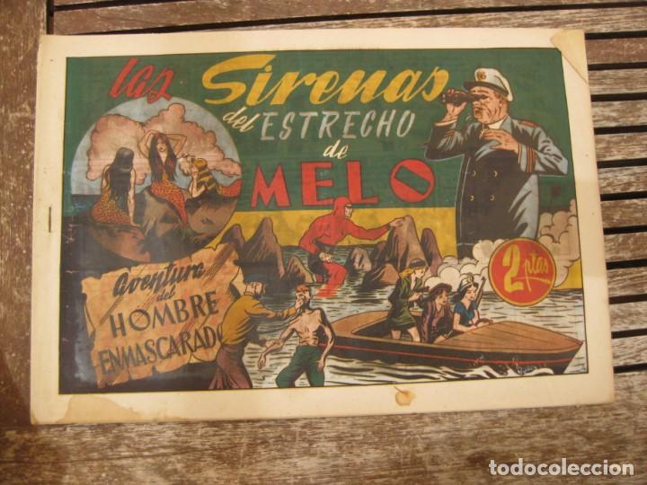 Tebeos: gran lote 67 el hombre enmascarado hispano americana de ediciones originales años 40 - Foto 46 - 164143534