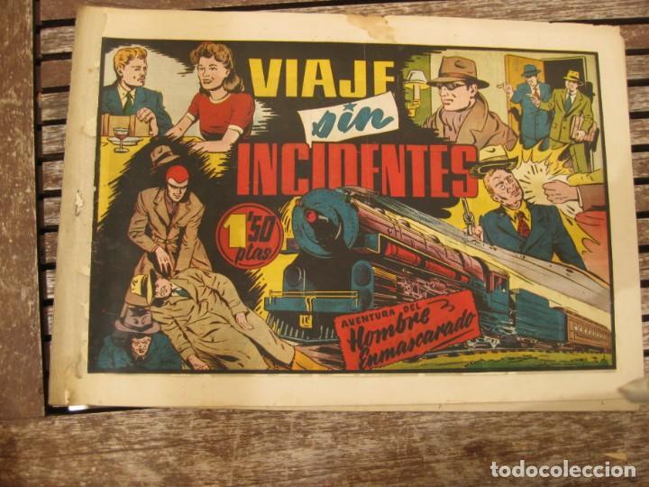 Tebeos: gran lote 67 el hombre enmascarado hispano americana de ediciones originales años 40 - Foto 48 - 164143534