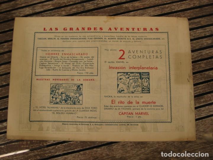 Tebeos: gran lote 67 el hombre enmascarado hispano americana de ediciones originales años 40 - Foto 50 - 164143534