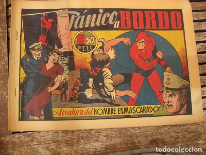 Tebeos: gran lote 67 el hombre enmascarado hispano americana de ediciones originales años 40 - Foto 51 - 164143534