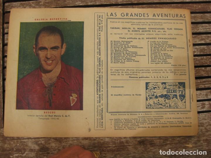 Tebeos: gran lote 67 el hombre enmascarado hispano americana de ediciones originales años 40 - Foto 52 - 164143534