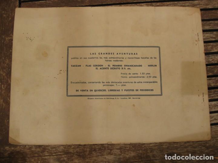 Tebeos: gran lote 67 el hombre enmascarado hispano americana de ediciones originales años 40 - Foto 54 - 164143534