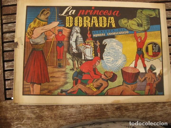 Tebeos: gran lote 67 el hombre enmascarado hispano americana de ediciones originales años 40 - Foto 57 - 164143534