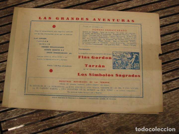 Tebeos: gran lote 67 el hombre enmascarado hispano americana de ediciones originales años 40 - Foto 59 - 164143534