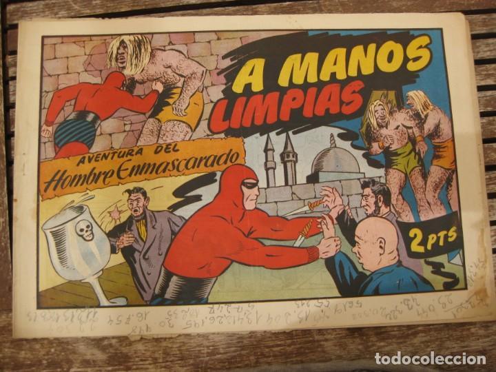 Tebeos: gran lote 67 el hombre enmascarado hispano americana de ediciones originales años 40 - Foto 60 - 164143534