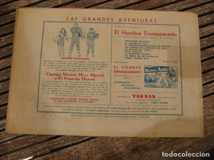 Tebeos: gran lote 67 el hombre enmascarado hispano americana de ediciones originales años 40 - Foto 61 - 164143534