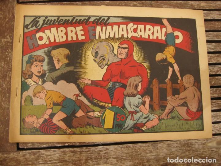 Tebeos: gran lote 67 el hombre enmascarado hispano americana de ediciones originales años 40 - Foto 63 - 164143534