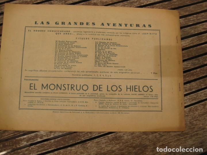 Tebeos: gran lote 67 el hombre enmascarado hispano americana de ediciones originales años 40 - Foto 64 - 164143534