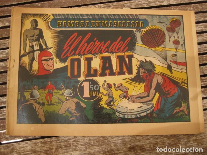 Tebeos: gran lote 67 el hombre enmascarado hispano americana de ediciones originales años 40 - Foto 65 - 164143534