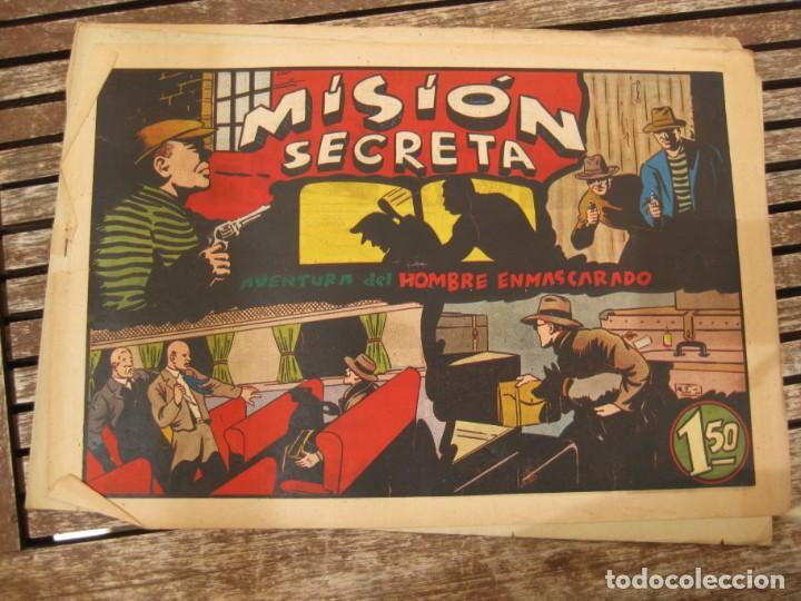 Tebeos: gran lote 67 el hombre enmascarado hispano americana de ediciones originales años 40 - Foto 68 - 164143534