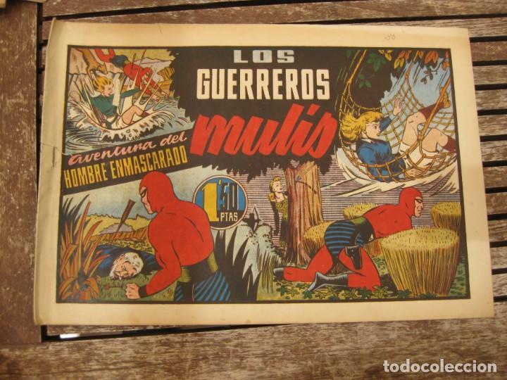 Tebeos: gran lote 67 el hombre enmascarado hispano americana de ediciones originales años 40 - Foto 72 - 164143534
