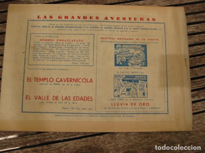 Tebeos: gran lote 67 el hombre enmascarado hispano americana de ediciones originales años 40 - Foto 73 - 164143534