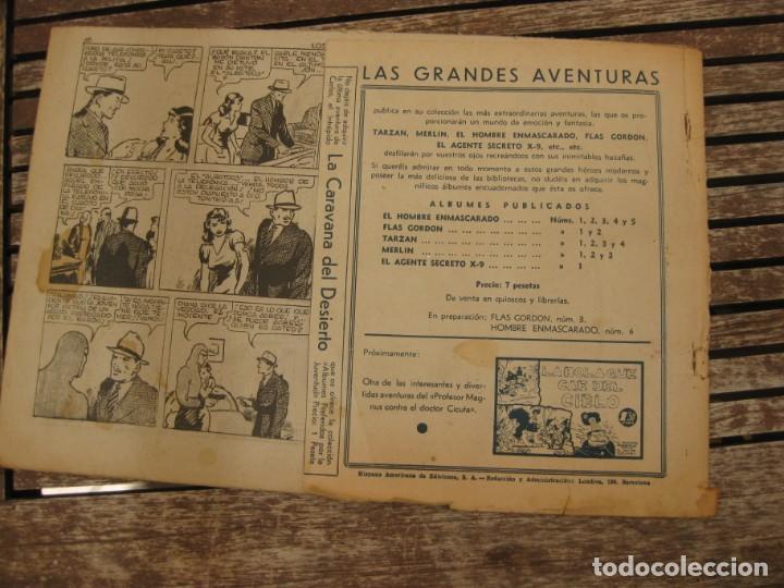 Tebeos: gran lote 67 el hombre enmascarado hispano americana de ediciones originales años 40 - Foto 75 - 164143534
