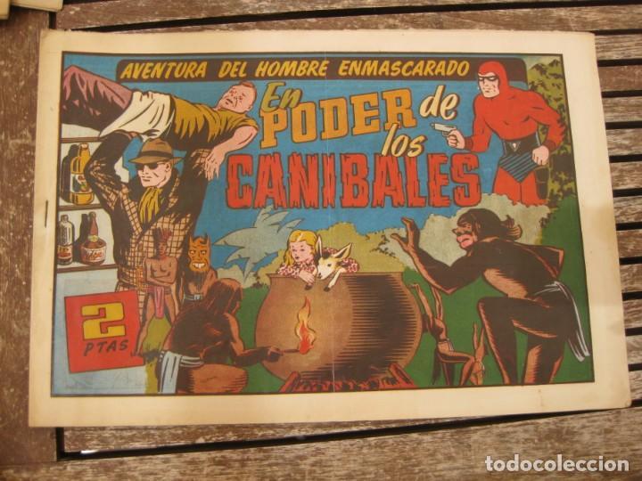 Tebeos: gran lote 67 el hombre enmascarado hispano americana de ediciones originales años 40 - Foto 77 - 164143534
