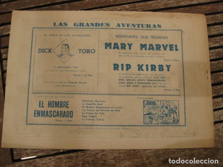Tebeos: gran lote 67 el hombre enmascarado hispano americana de ediciones originales años 40 - Foto 78 - 164143534