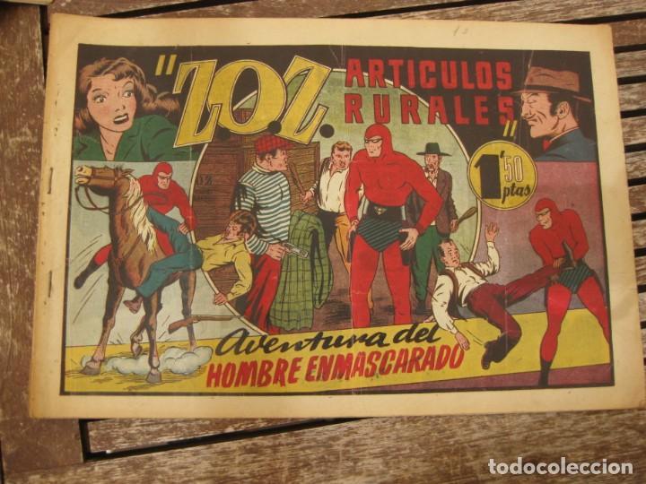 Tebeos: gran lote 67 el hombre enmascarado hispano americana de ediciones originales años 40 - Foto 79 - 164143534