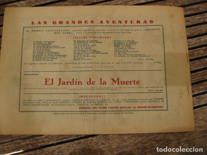 Tebeos: gran lote 67 el hombre enmascarado hispano americana de ediciones originales años 40 - Foto 80 - 164143534