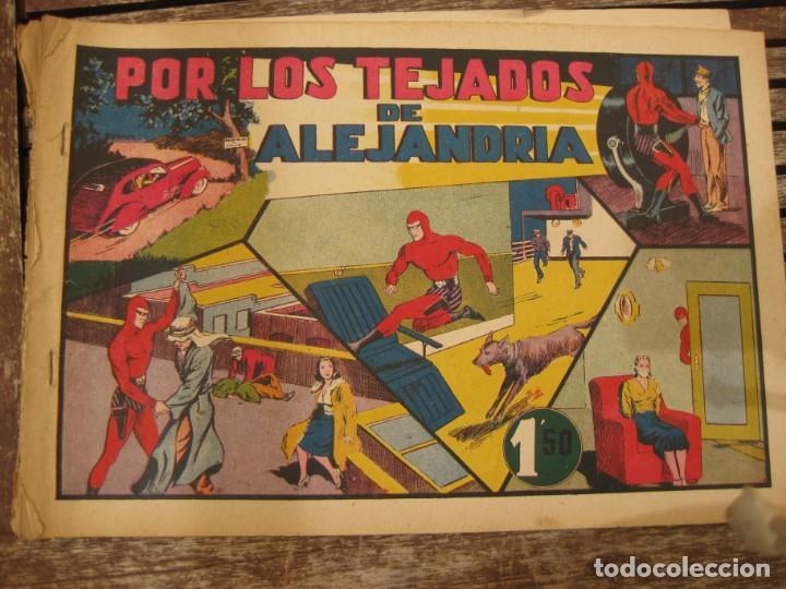 Tebeos: gran lote 67 el hombre enmascarado hispano americana de ediciones originales años 40 - Foto 83 - 164143534