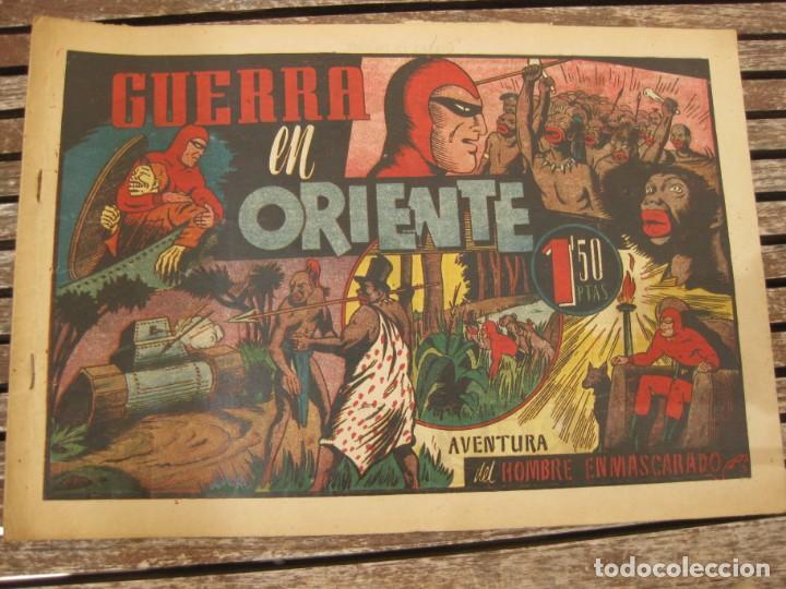 Tebeos: gran lote 67 el hombre enmascarado hispano americana de ediciones originales años 40 - Foto 85 - 164143534